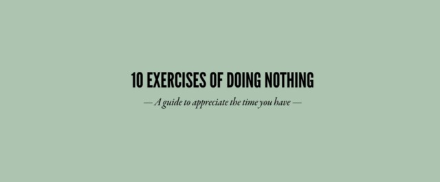 10-exercises-of-doing-nothing